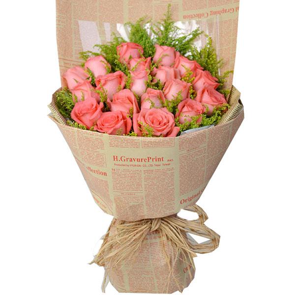 玫瑰包装花束步骤图片