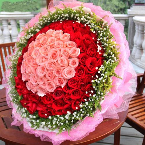 阳台种植爬山虎_浪漫的爱情-33只粉玫瑰中间,66只红玫瑰围绕,满天星外围-全国 ...